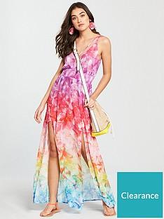 v-by-very-split-hem-floaty-beach-maxi-dress-print