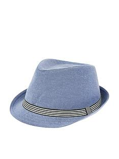 monsoon-denim-colourblock-trilby-hat