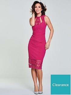 2a09e7247f Myleene Klass Lace Panel Pencil Dress - Pink