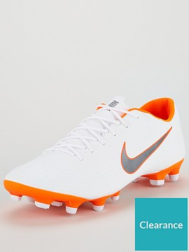 f1ce5bdac7d Nike Mens Mercurial Vapor 12 Academy MG Football Boots - White Orange
