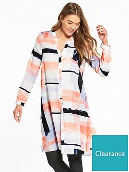 wallis-brushstroke-longline-shirt-coral-stripe