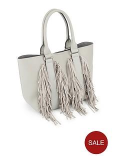 miss-selfridge-grey-fringe-tote-bag