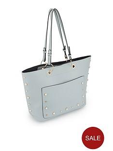 miss-selfridge-miss-selfridge-blue-stud-amp-pearl-tote-bag