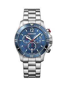 wenger-wenger-seaforce-mens-chronograph-watch-blue-dial-43mm-stainless-steel-case-and-bracelet