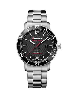 wenger-roadster-black-nightnbspblack-dialnbsp45mm-stainless-steel-case-and-bracelet-mensnbspwatch
