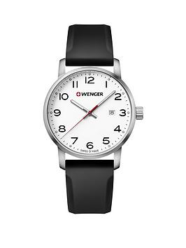 wenger-avenue-unisex-white-dialnbsp42mm-stainless-steel-case-and-black-silicone-strap-watch