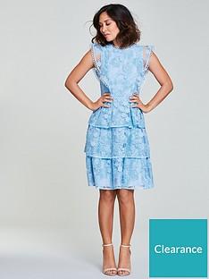 Myleene Klass Lace Tiered Dress - Blue ec79e5aed