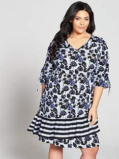 junarose-leanbspthree-quarter-sleeve-shift-dress