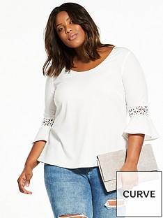 junarose-curve-nadina-cut-out-sleeve-detail-blouse-whitenbsp