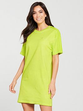 adidas-originals-dye-pack-tee-dress-yellow