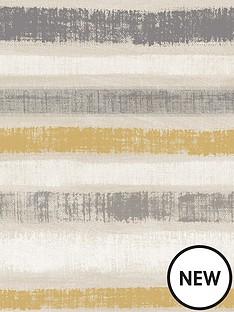 arthouse-painted-stripe-grey-amp-ochre-wallpaper