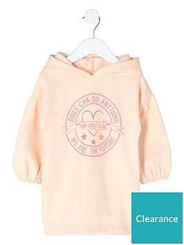 river-island-mini-girls-lsquogirls-can-sweatshirt-dress-pink