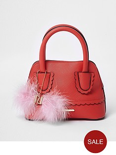river-island-girls-red-scallop-trim-pom-pom-tote-bag