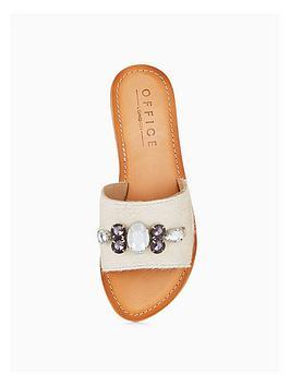 Cheap Latest Sadie Pony White  Sandal Flat OFFICE Sale Pick A Best xjIjd0nl2