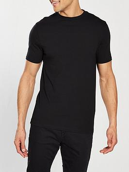 river-island-black-short-sleeve-muscle-fit-crew-neck-t-shirt