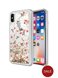 kendall-kylie-liquid-glitter-case-for-iphone-x-heels-hangers-hearts-goldsilverred