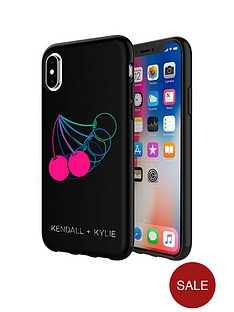 kendall-kylie-protective-printed-case-for-iphone-x-cherries-matte-blackpink-foilmulti-foil