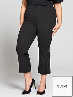 v-by-very-curve-cropped-button-detail-trouser-black