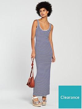 1b3268d731b V by Very Tall Scoop Neck Jersey Maxi Dress - Blue Stripe ...