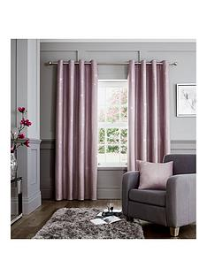 Catherine Lansfield Luxury Glamour Weave Lined Eyelet Curtains
