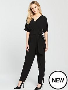 wallis-wallis-side-stripe-obi-jumpsuit
