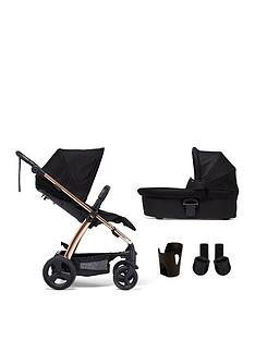 mamas-papas-sola2-rose-gold-4-piece-bundle-pushchair-carrycot-cupholder-and-adaptor