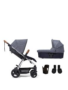 mamas-papas-sola2-chrome-4-piece-bundle-pushchair-carrycot-cupholder-and-adaptor