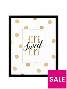 ideal-home-glam-home-sweet-home-framed-wall-art