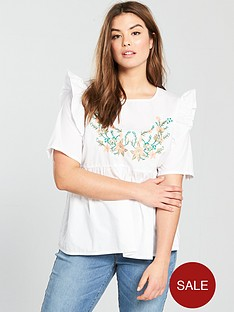 junarose-cheryl-short-sleeve-embroidered-blouse-whitenbsp