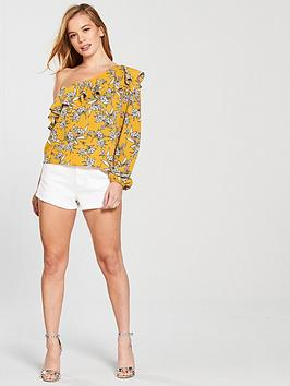 One Floral Shoulder Blouse Print Petite  nbsp by V Very For Sale Finishline Comfortable Cheap Online Latest Collections Pre Order OdtnrjSp