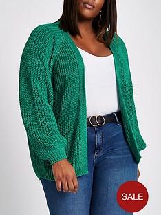 ri-plus-chunky-cardigan--green