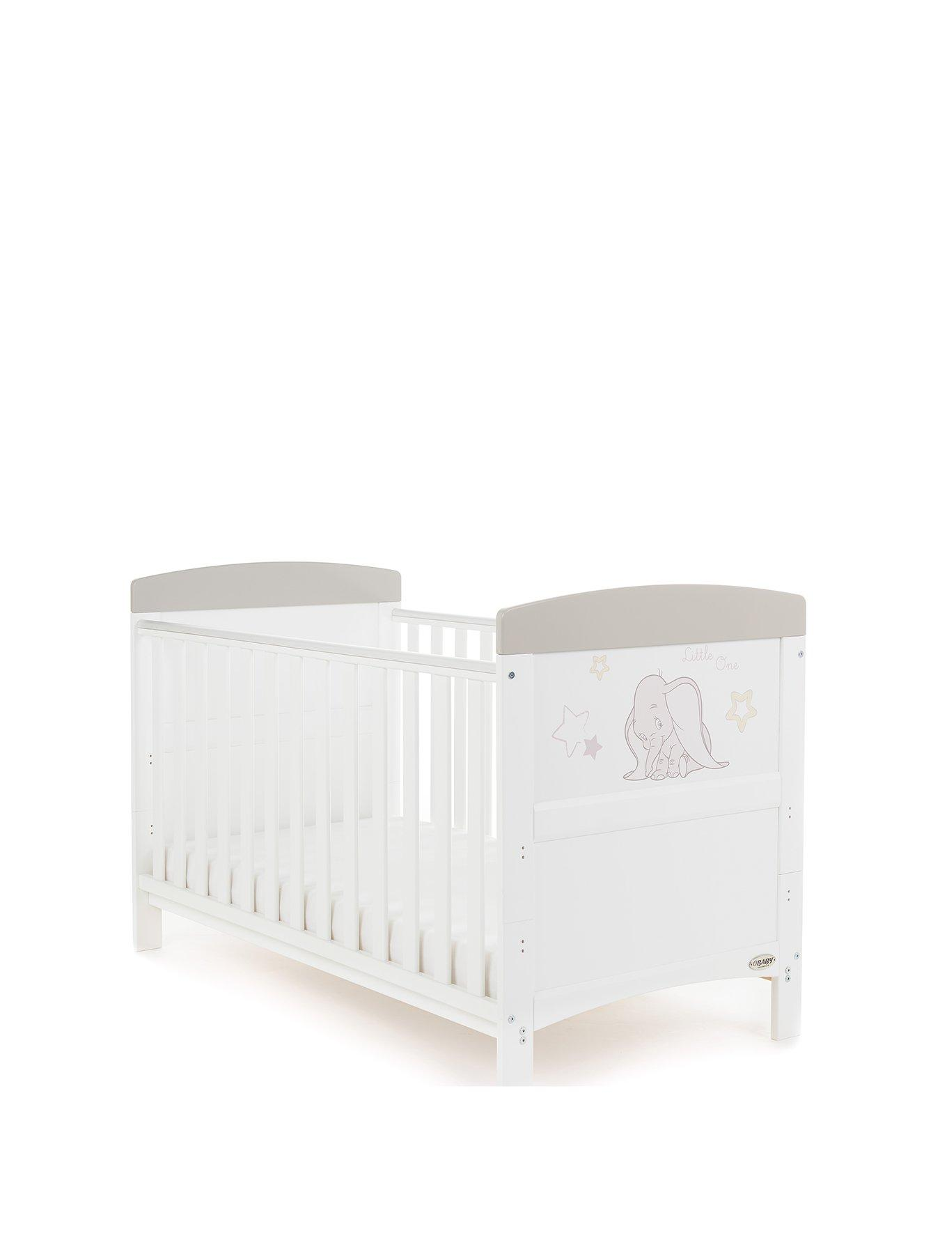 COCO MATTRESS NEW WHITE-BLUE 2in1 COT-BED 120x60 WITH 3-PIECE BEDDING no 7