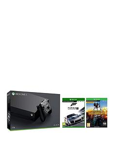 xbox-one-x-console-plus-playerunknowns-battlegrounds-and-forza-7nbspplus-optional-extra-wireless-controller-andor-12-months-live-gold