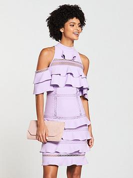 v-by-very-lace-trim-cold-shoulder-midi-dress-lilac