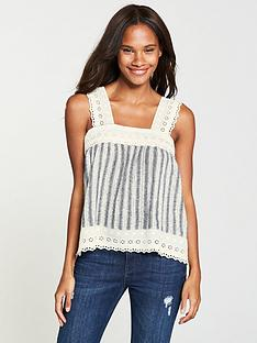 v-by-very-crochet-trim-stripe-linen-cami-stripe