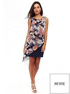 wallis-petite-floral-asymmetric-overlaynbspdress-navy