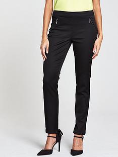 wallis-tinseltown-side-zip-trouser-black