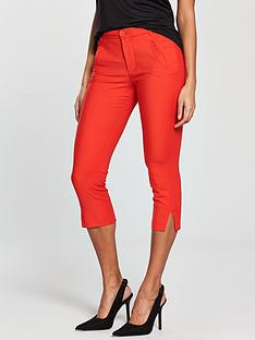 mango-crop-slim-fit-trouser-red