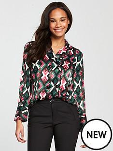 mango-geometric-printed-shirt