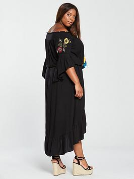 V  Curve Embroidered Tassel by Black Dress Very Front Buy Cheap Pictures Free Shipping Best Prices 2018 New Online Exclusive Online 100 Original Sale Online 6Uo6w