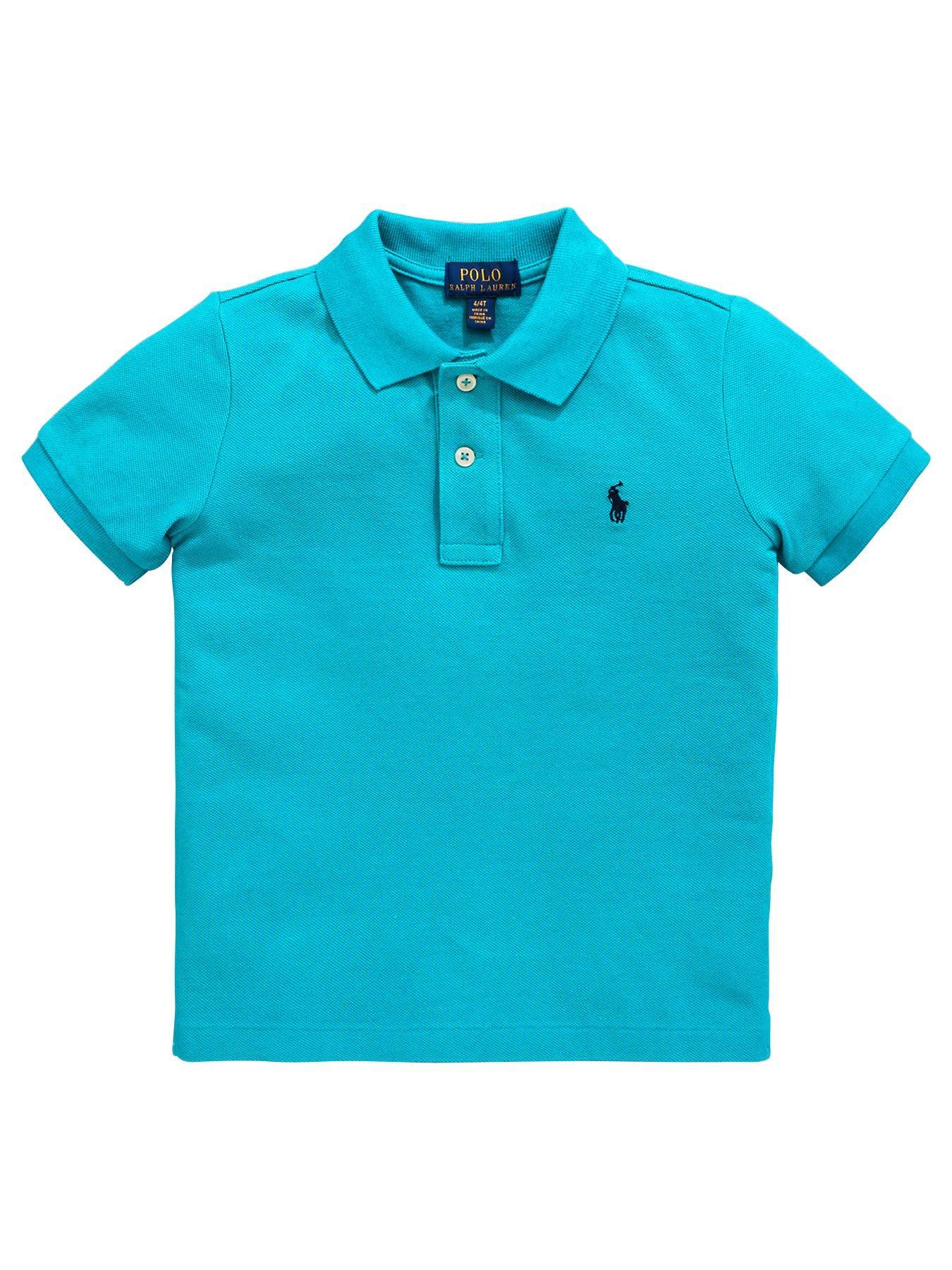 4e4f31edc wholesale ralph lauren big pony 3 short sleeve polo shirt turquoise 20edb  b1c60  spain ralph lauren boys classic short sleeve polo shirt turquoise ...