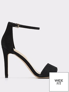 Aldo Fiollaw Heeled Sandal Wide Fit Black