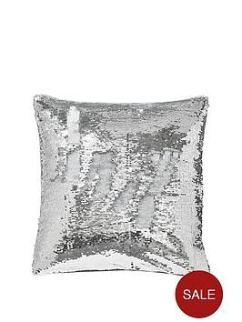 catherine-lansfield-reverse-sequin-cushion-silverwhite