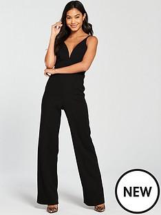 miss-selfridge-strappy-jumpsuit-black