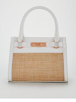 For Sale Free Shipping Discount Pay With Paypal Michelle Keegan Tote White Bag Panel Raffia  View For Sale From China Online ukgxuuB
