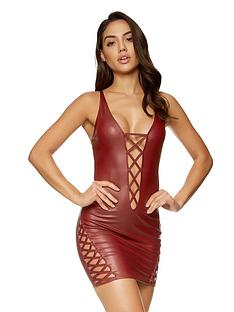 ann-summers-samara-wet-look-dress-red
