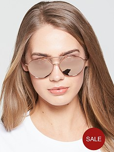 emporio-armani-mirrrored-aviator-sunglasses-rose-goldnbsp