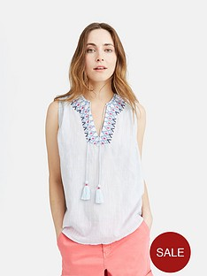 joules-otille-sleeveless-embroidered-top-cool-blue