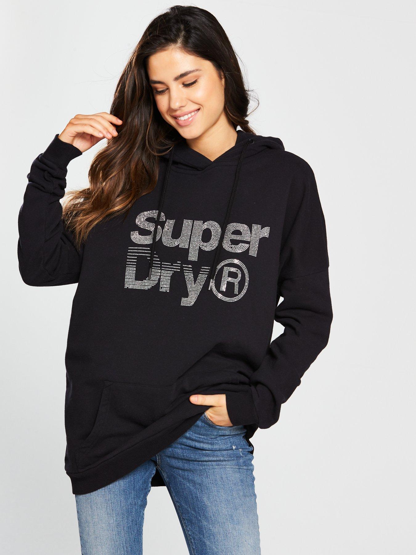 Superdry Sparkle Skater Hood - Black