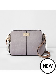 river-island-river-island-medium-triple-compartment-cross-body-bag--grey